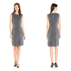 NANETTE LEPORE Charcoal Jacquard Lace Sheath Dress
